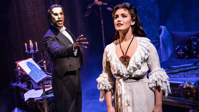"Quentin Oliver Lee and Eva Tavares star in ""The Phantom of the Opera,"" opening Jan. 31 at the Peace Center."