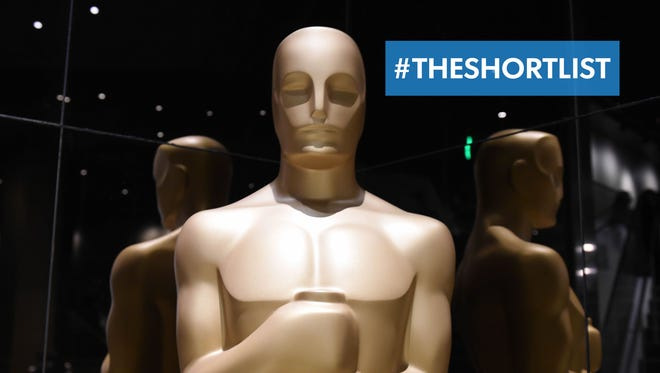 Oscar statuettes are on display during the Academy Awards Nominations Announcement at the Samuel Goldwyn Theater in Beverly Hills on January 15.