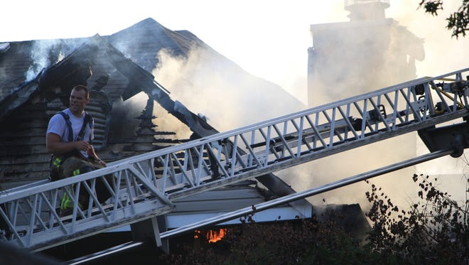 Fire crews from across Hamilton County battled the three-alarm fire at The Commons for several hours Saturday evening.