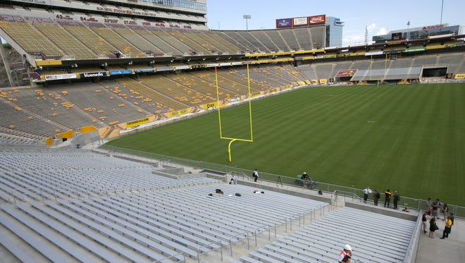 The new student section of the south end zone during a tour of the new features of the stadium at Sun Devil Stadium in Tempe on Tuesday,  September 8, 2015.