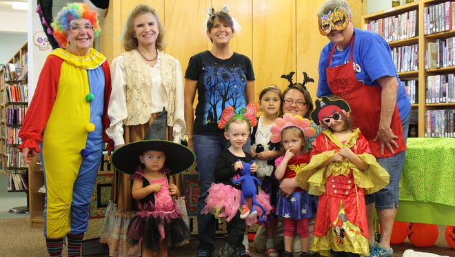 Marion County Library was a super spooky place recently when goblins, shown, invaded  the weekly Story Time. Story Children are welcome at Story Time set for 11 a.m. Thursdays. For information, call (870) 449-6015, or visit www.marcolibrary.org.