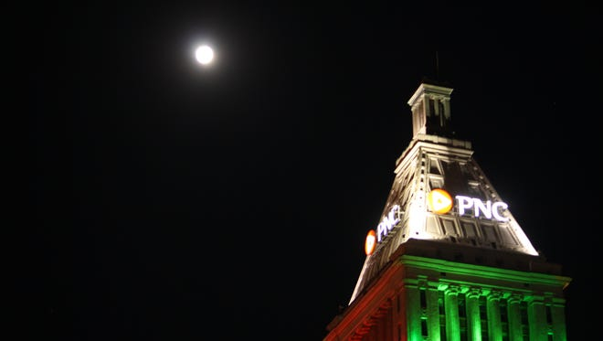 A full moon lit the sky on Christmas for the first time in nearly 40 years.
