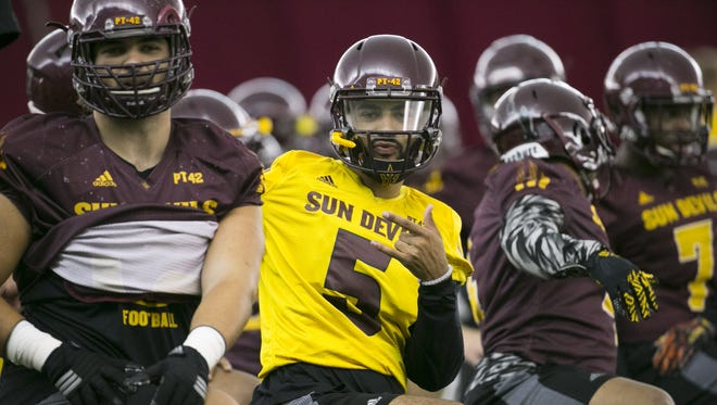 The sophomore quarterback appears to be in line to start the Sept. 3 opener against Northern Arizona.