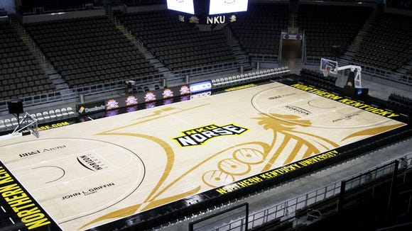 The University of Cincinnati men's basketball team will play the 2017-18 season at Northern Kentucky University's BB&T Arena, while UC's Fifth Third Arena is under renovation.