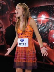 "Lauren Daigle of Lafayette is shown during her 2012 audition on ""American Idol."""