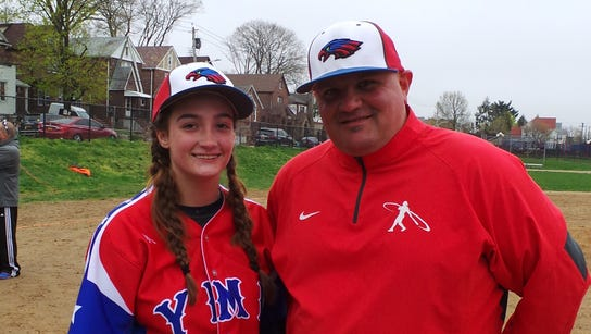 Madison Allen (left) and coach Spike Dimartino after