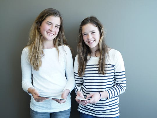 Isabella and Sofia Mandich, 8th grade app developers