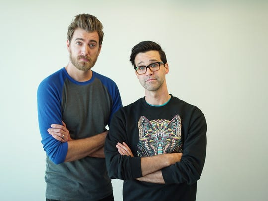 """Rhett James McLaughlin and Charles Lincoln """"Link"""" Neal III, aka Rhett and Link of YouTube fame, will perform at the Ryman Auditorium as part of the 2019 Nashville Comedy Festival."""