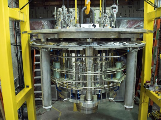 This is an image of the magnet before it was placed in its housing.