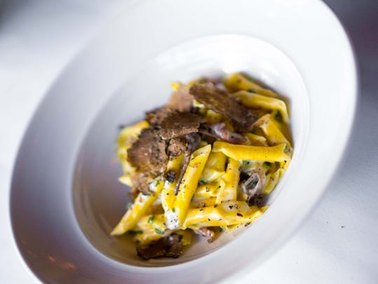 Garganelli with truffles at Due Mari in New Brunswick.