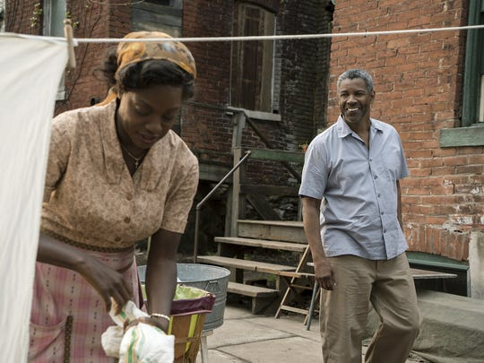Viola Davis and Denzel Washington appear in a scene