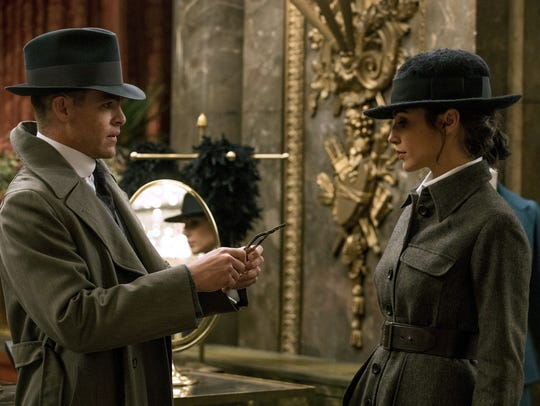 "Chris Pine and Gal Gadot in a scene from ""Wonder Woman."""