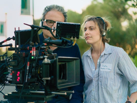 Director Greta Gerwig (right) and cinematographer Sam