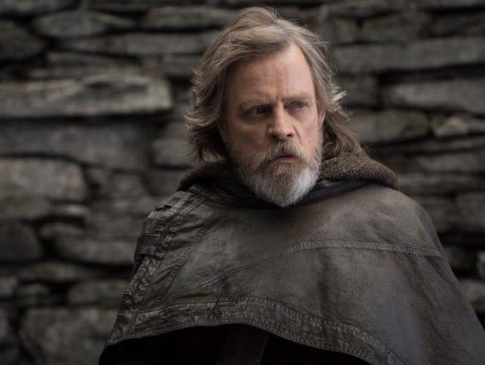 """Mark Hamill as Luke Skywalker in """"Star Wars: The Last"""