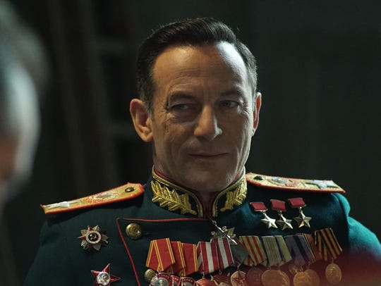 "Jason Isaacs plays Zhukov in ""The Death of Stalin."""