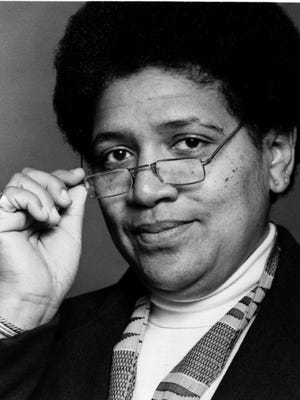 "Audre Lorde, poet and breast cancer victim from the POV presentation of ""A Litany for Survival:  The Life and Work of Audre Lorde"" ."