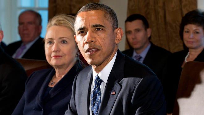 President Obama and Hillary Rodham Clinton.