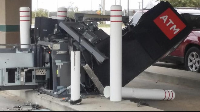 Ardmore police are searching for a suspect believed to have stolen a fork lift March 20 and destroyed a local ATM, taking around $100,000 in cash.