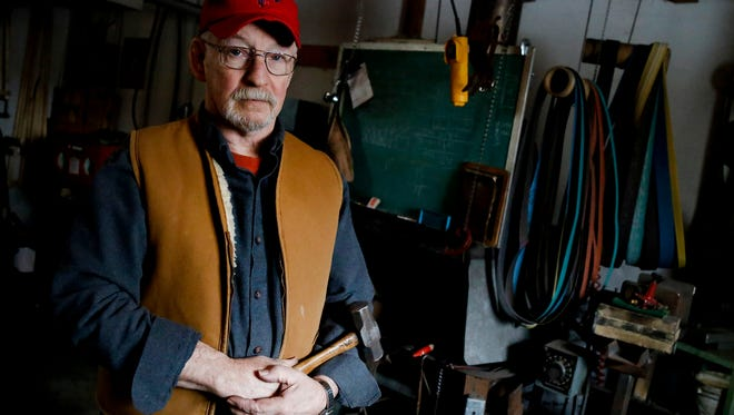 Erin resident Ray Smith will appear on History channel's Forged in Fire television show competition on Feb. 7. The blacksmith and bladesmith has been honing his craft for several decades inside his workshops.