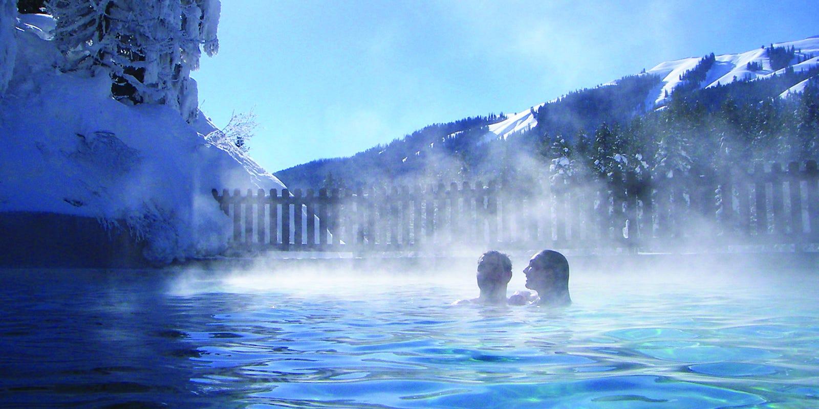 Rocky Mountain Hot Pools Warm Winter Bathers