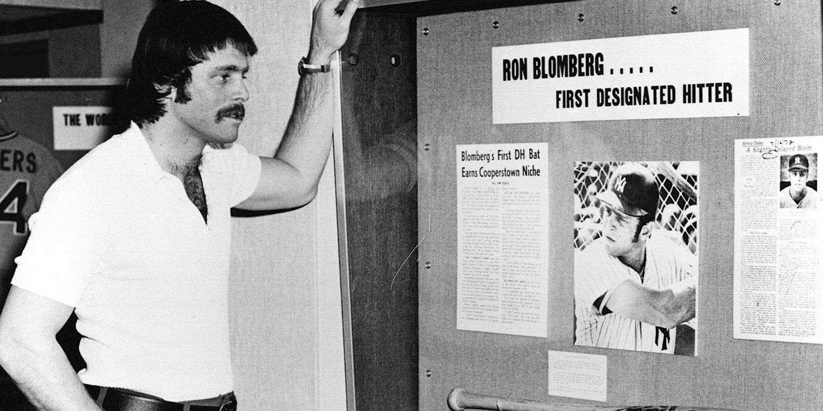 Image result for ron blomberg dh newspaper images