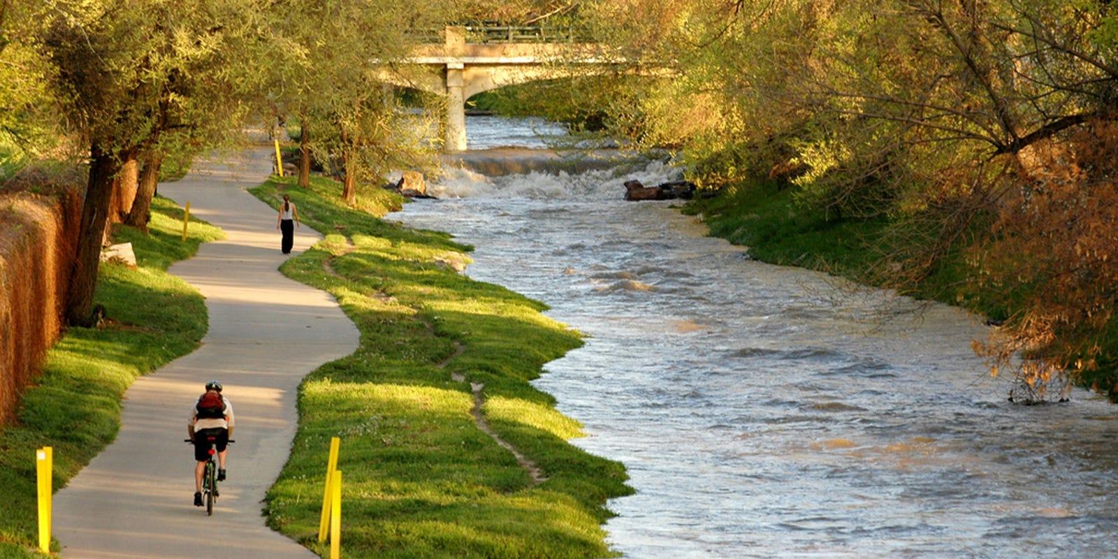 Top urban bike paths across the usa for Cherry creek
