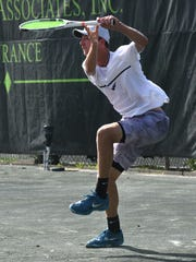 Alexander Petrov competes at the USTA Intersectionial 16's at Shreveport's Pierremont Oaks Tennis Club.