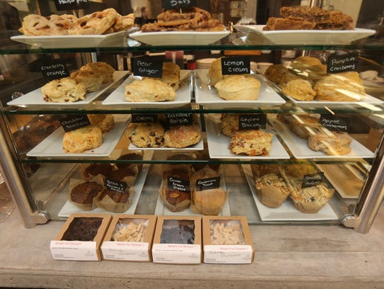 A selection of baked goods at Nutmeg Cafe on Main Street