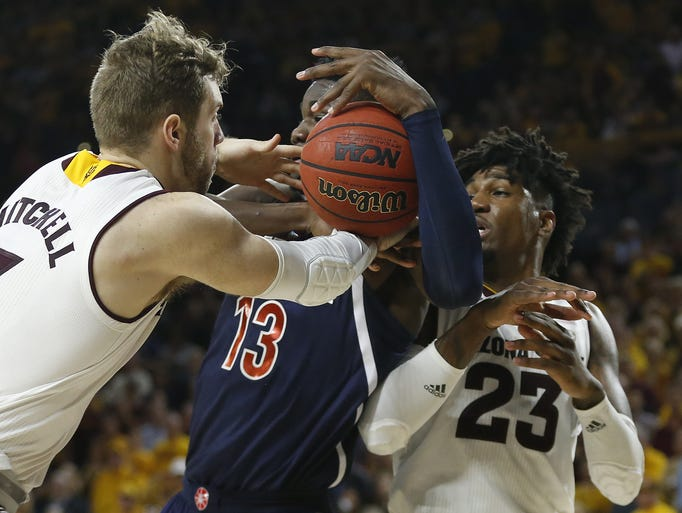 Arizona State Sun Devils forward Mickey Mitchell (3)