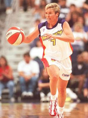 Australian guard Michele Timms was the first player allocated to the Phoenix Mercury, now celebrating their 20th anniversary season.