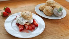 A perfect strawberry shortcake begins with a good biscuit