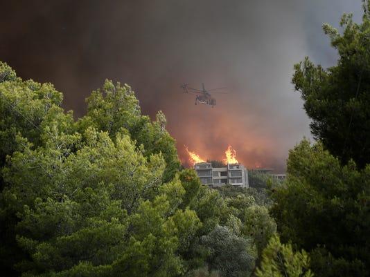 EPA GREECE FOREST FIRE DIS FIRE GRC