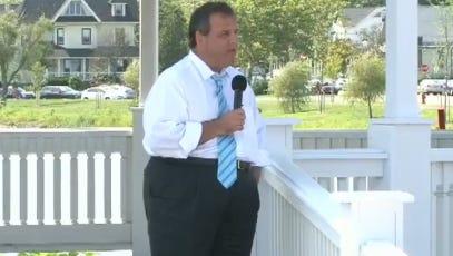Live: Gov. Christie speaking in Belmar.