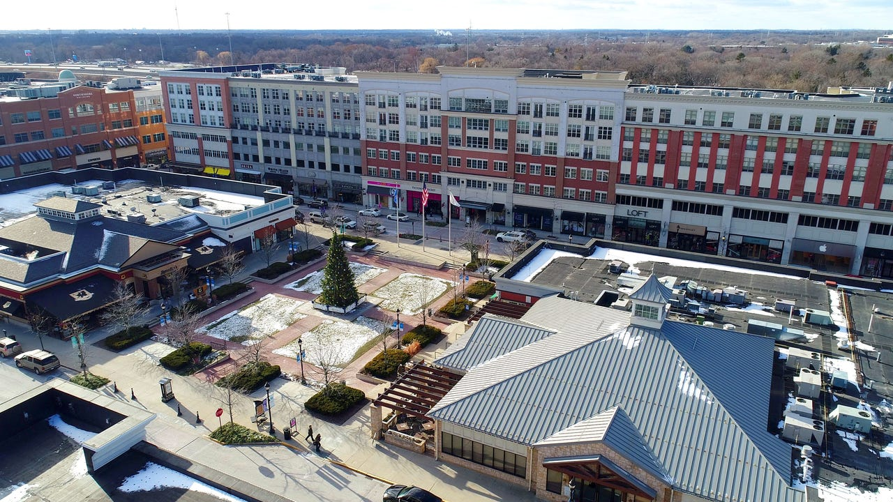 Drone view of Bayshore Town Center