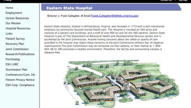 Eastern State Hospital website