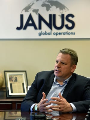 Rich Gross, a retired U.S. Army general from Knox County, has returned home to work for Janus Global Operations in Lenoir City Tuesday, Oct. 17, 2017.