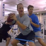 """The Timeline: Peyton Manning's Summer School"" airs Sunday, Aug. 28, on NBC."