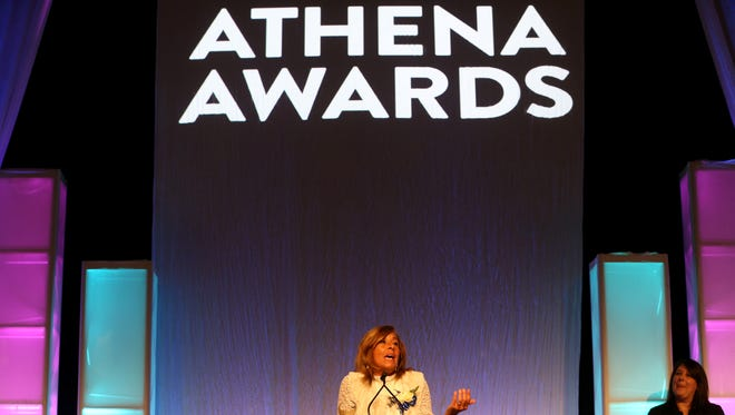 Elaine Spaull wins the Athena Award.