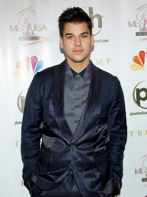 Rob Kardashian arrives at the Miss USA pageant in 2012.