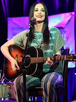 Artist Kacey Musgraves plays at the Tin Pan South Songwriters Festival at 3rd and Lindsley Bar and Grill on Saturday, April 9, 2016, in Nashville, Tenn.