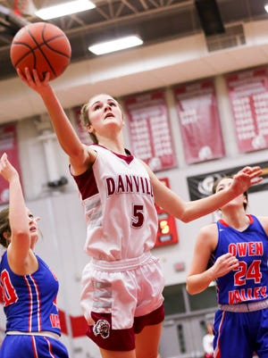 Jenna Cowart (5) led Danville to its second straight regional title on Saturday night.