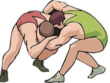 Banned Pa. dad can watch son wrestle, just not in gym