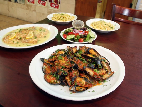 Mussels marinara and a chicken dish at Annabella's Pizza and Pasta on North Division Street in Peekskill.