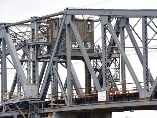 The swing bridge that will be replaced on the Hackensack