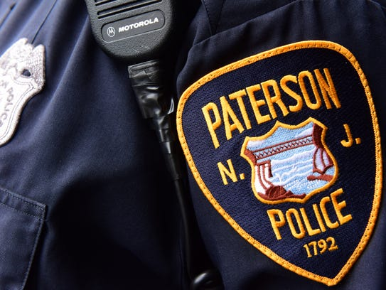A Paterson Police officer's badge.