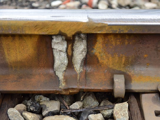 The tracks in Dumont were welded in certain spots after