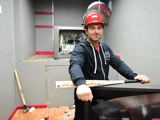 Jeff Sherfer, owner of Rage Room, in Hackensack on