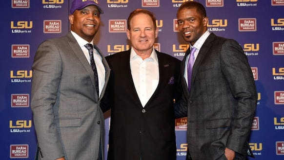 LSU head coach Les Miles introduces new RB coach Jabbar