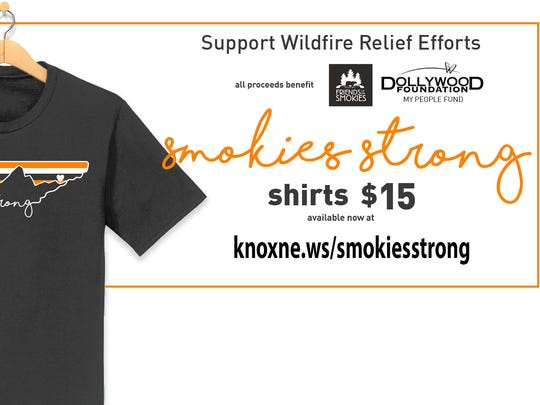 Get a Smokies Strong T-shirt to support relief efforts.