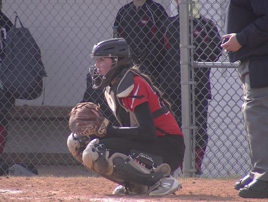 Northeastern catcher Haley Updegraff has established